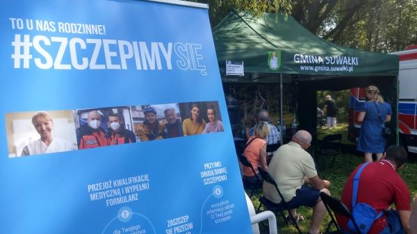 W dniu 15 sierpnia 2021 roku na Jarmarku Wigierskim w Pokamedulskim Klasztorze Wigierskim, Gmina Suwałki w porozumieniu z Wojewodą Podlaskim zorganizowała mobilny punkt szczepień...